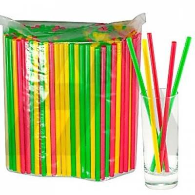 Трубочки для напитков (250шт/уп) тонкая 5*210мм