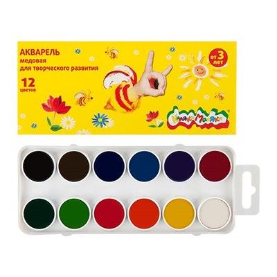 Краски 12цв акварель Каляка-Маляка АМКМ12, карт уп