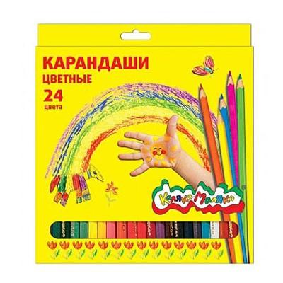 Карандаши цветные 24цв Каляка-Маляка ККМ24