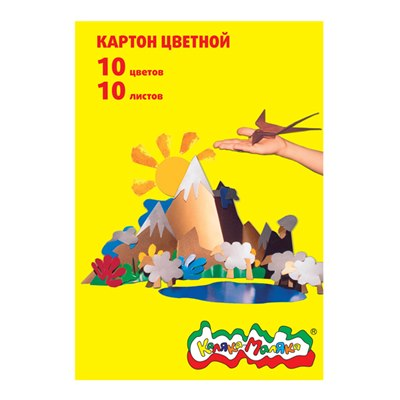 Картон цветной 10л 10цв Каляка-Маляка КЦКМ10