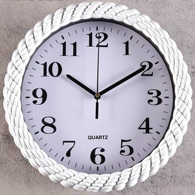 Часы настенные Плетенка белые 25.5 см 3244726