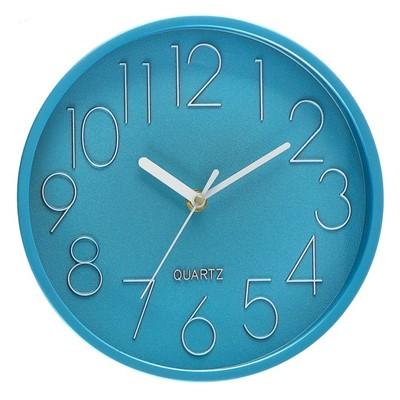 Часы настенные Классика голубой металлик 22,5см 3043611