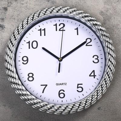 Часы настенные Плетенка 25.5 см дискретный ход 3244724
