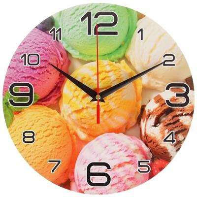 Часы настенные Мороженое радуга 24см 3571438