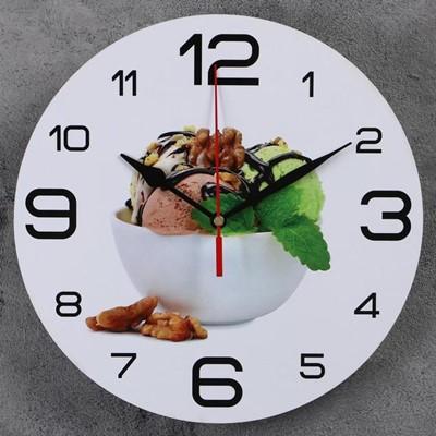 Часы настенные Мороженое с мятой 24 см 3571458