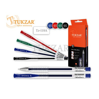 Ручка гелевая синяя Tukzar 0,5мм рифленый держатель TZ 118A