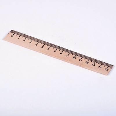Линейка деревянная 15см ЛМП150
