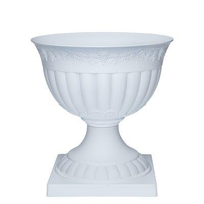 Вазон Флора с подставкой 14,5л (белый) арт 221