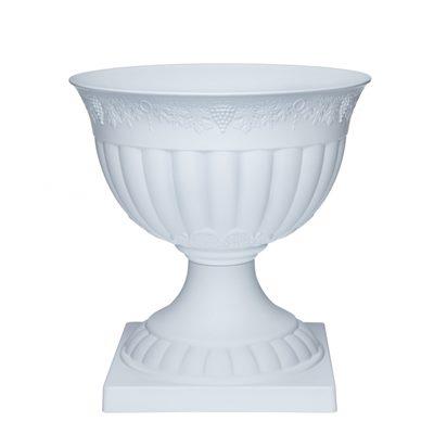Вазон Флора с подставкой 7,5л (белый) арт 220