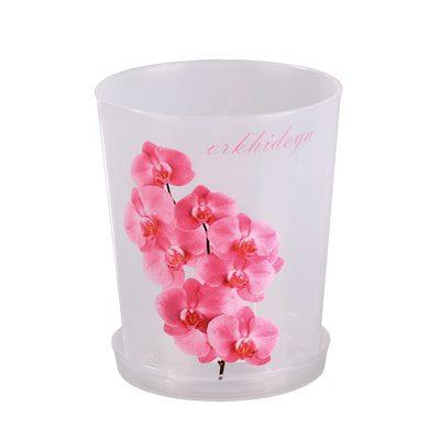 Горшок цветочный для орхидей 1,8л прозр. М1604