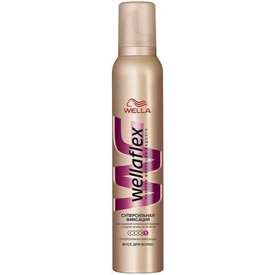 Мусс для волос Веллафлекс 200мл №5 супер сильн фикс