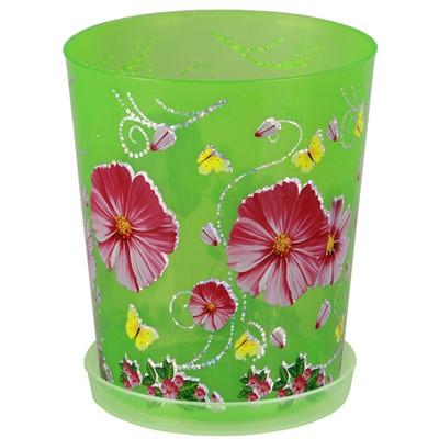 Горшок цветочный Камилла для орхидей 1,2л М2803 зеленый