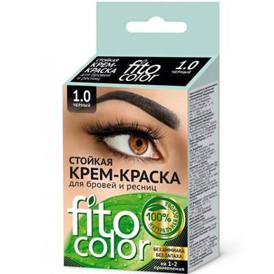 Крем-краска для бровей и ресниц Fito Color 2*2мл Черная