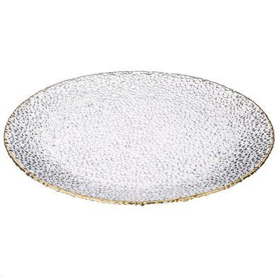 Блюдо GLAMOUR белый с золотом d32см 323732P