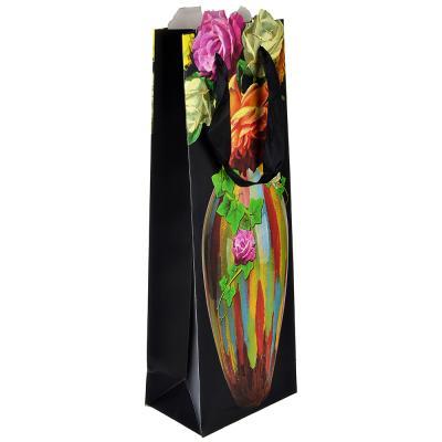 Пакет подароч с руч бумаж 12,8*36см с вазами 507-979
