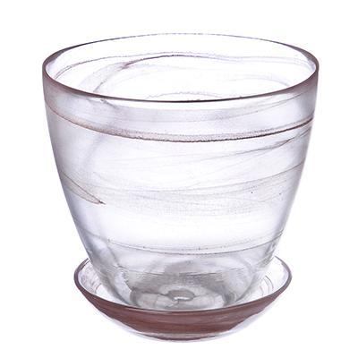 Горшок с поддоном, стекло, 0,85л №2 93-025 алеб. кор. 164-140