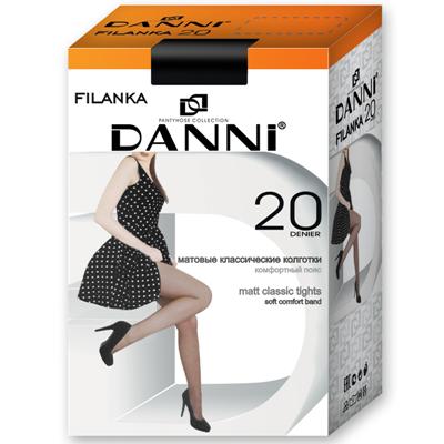Колготки 20д Данни Filanka №5 черный