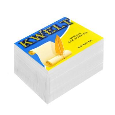 Блок бумаги KWELT 8*8*5 см белый 80г/м2 КР-00020