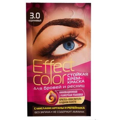 Крем-краска для бровей и ресниц Effect Color 3мл Коричневый