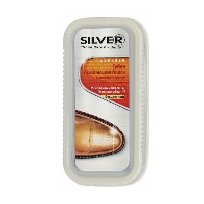 Губка-блеск для обуви натуральная Сильвер (бесцветная)