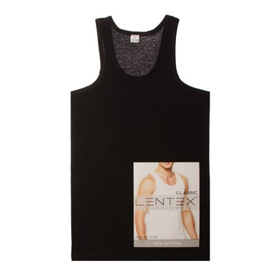 Майка мужская Lentex Style 0135 черный 52р/XL