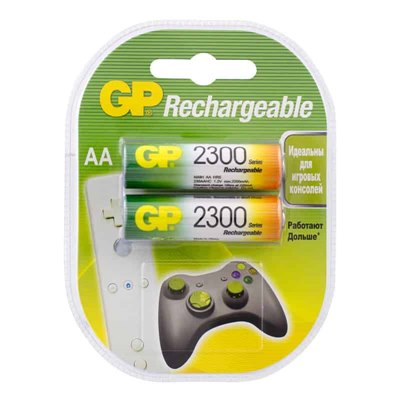 Аккумулятор GP Rechargeable R6 (2300 mAh) по 2шт, цена за уп-ку