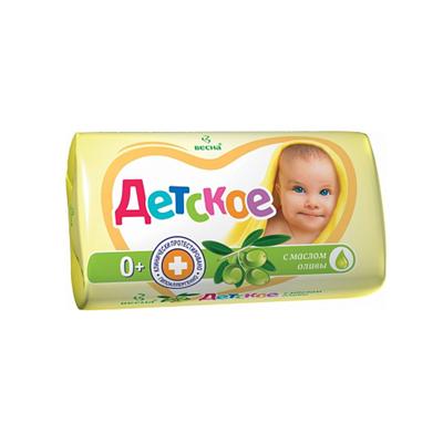 Мыло детское Весна 90г с маслом оливы
