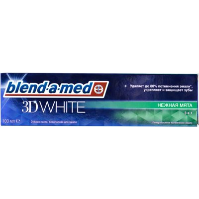 Паста зуб БЛЕНД-А-МЕД 100мл 3D White Нежная мята 3в1