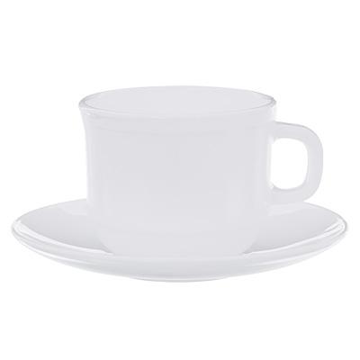 Чайная пара Millimi Бьянко опаловое стекло 818-039