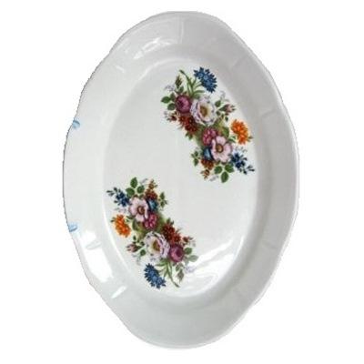 Блюдо овал. 330мм Букет цветов 4с0590