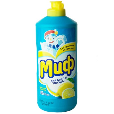 Жидкость для посуды МИФ 500г Лимонная свеж.