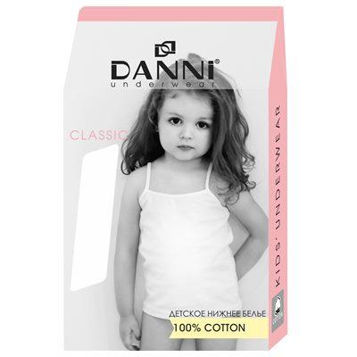 Майка Данни классик девочка 9-10 белая