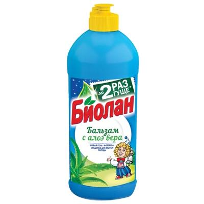 Жидкость для посуды Биолан 450мл Бальзам с Алоэ Вера