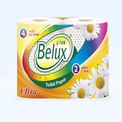 Туалетная бумага Белюкс Плюс 2-х сл, 20м, 4шт с цветн. рис