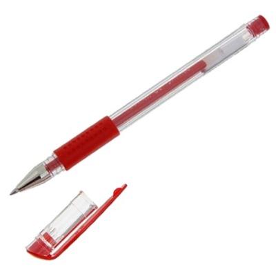Ручка гелевая красная Basir 0,5мм 1266 по 12шт
