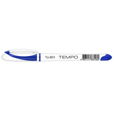 Ручка гелевая синяя Tukzar Tempo 801 0,5мм TZ 801 по 12шт.