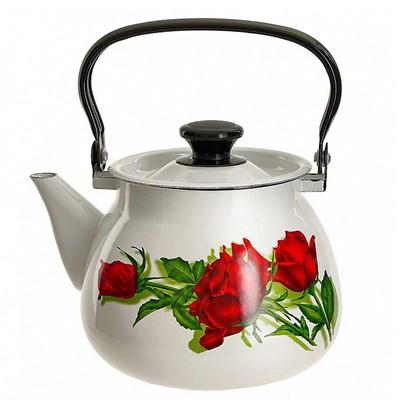Чайник эмалиров 3,5л сферич белый 42104-132/6 с декором