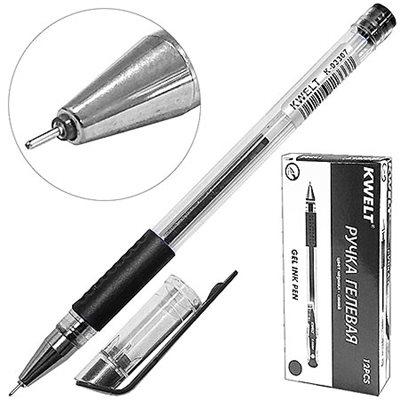 Ручка гелевая черная KWELT 0,5мм К-03308