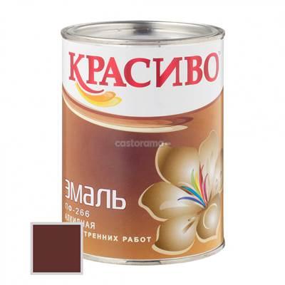 Краска ПФ-266 Красиво красно-коричневая 0,9л для пола
