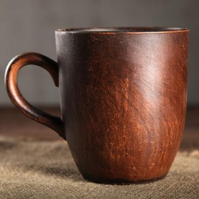 Чашка 0,3л Чайная гладкая, красная глина 3531272
