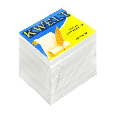 Блок бумаги KWELT 8*8*8 см белый 80г/м2 КР-00017