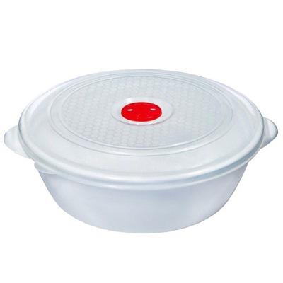 Контейнер для СВЧ 1л с крышкой и клап. с рис арт 308