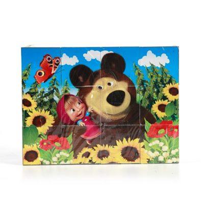 Набор из 12-ти кубиков Играем вместе Маша и медведь 01321