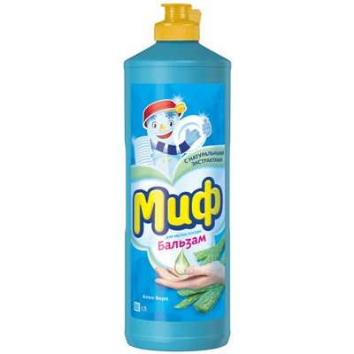 Жидкость для посуды МИФ 1л Бальзам Алоэ Вера