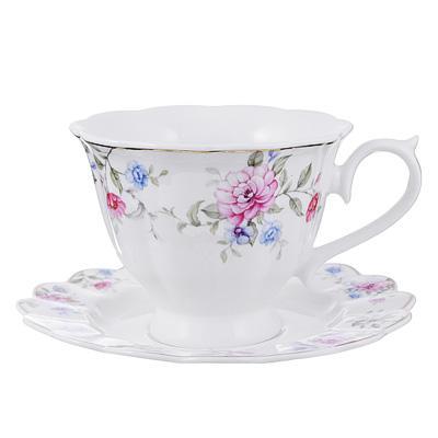 Чайный сервиз 2пр, 220мл, кост. фарфор MILLIMI Азалия 802-020