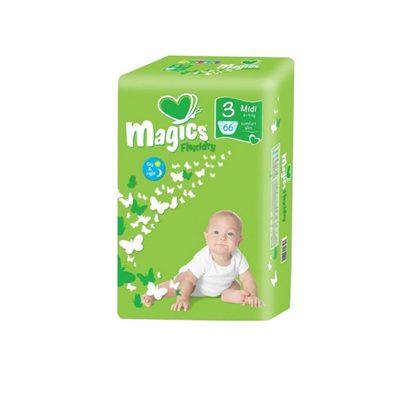 Подгузники Magics (Меджик) Миди №3 (66шт) 4-9кг