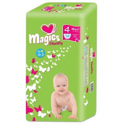 Подгузники Magics (Меджик) Макси №4 (58шт) 7-18кг