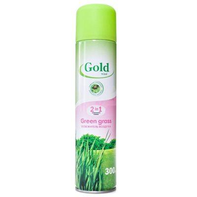 Освежитель воздуха Голд Винд 300мл Зеленая трава