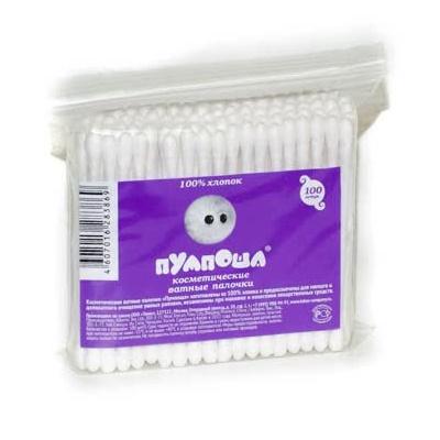 Ватные палочки Пумпоша 100шт, в пакете