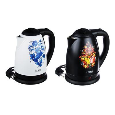 Чайник электр., метал. 1,8л 1500Вт LEBEN Цветы 291-057